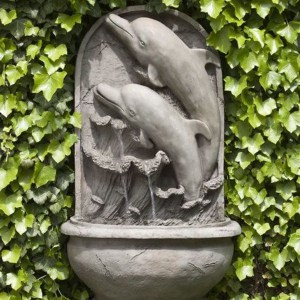 dolphin themed wall fountain